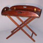 Mahogany butlers tray with folding stand image 1