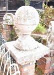 PAIR STONE CORBELS/FINIALS ~ SOLD