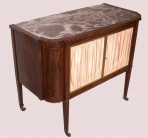 Side cabinet with marble top