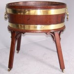 George III mahogany wine cooler