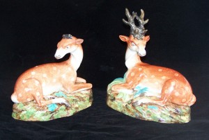 Staffordshire stag & doe