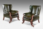 Pair leather Library Chairs