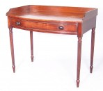 George III Bow fronted side table