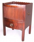 Bow fronted commode