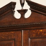 Oak Pedimented cabinet