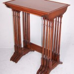 Nest of four mahogany tables
