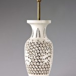 Creamware style vase as lamp