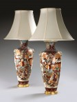 Pair Large Japanese Vases as lamps
