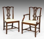 Ten Chippedale design dining chairs ~ SOLD