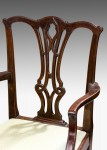 Ten Chippedale design dining chairs