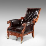 Antique Library Reclining Armchair