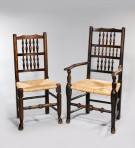 Harlequin set 12 Spindle back chairs
