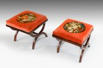 Pair of Regency 'X' Framed Stools image 2