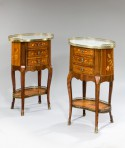 Pair of Marquetry Chests/Tables
