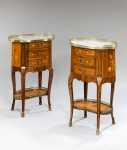 Pair of Marquetry Chests/Tables image 1