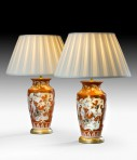 Pair of Japanese Vases, as lamps ~ SOLD