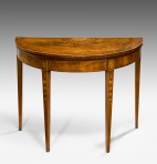 George III Demi Lune Card Table ~ SOLD