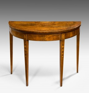 George III Demi Lune Card Table