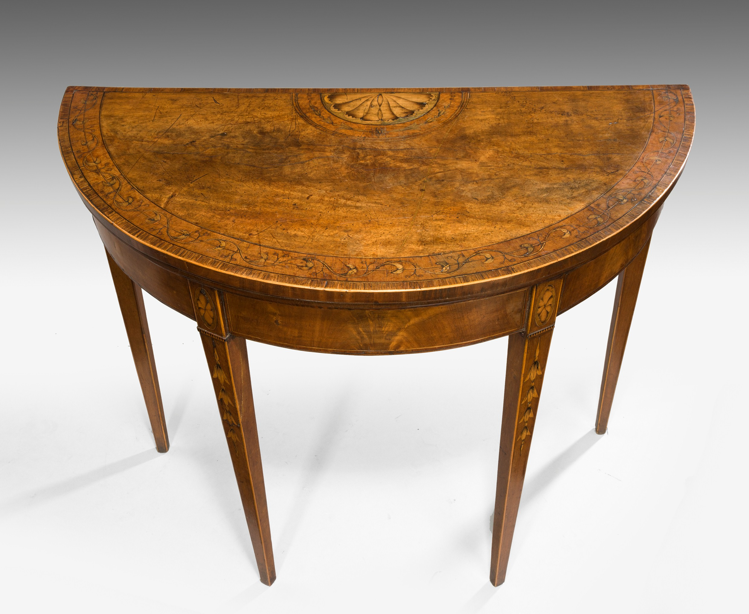 George III Demi Lune Card Table | Summers Davis Antiques & Interiors