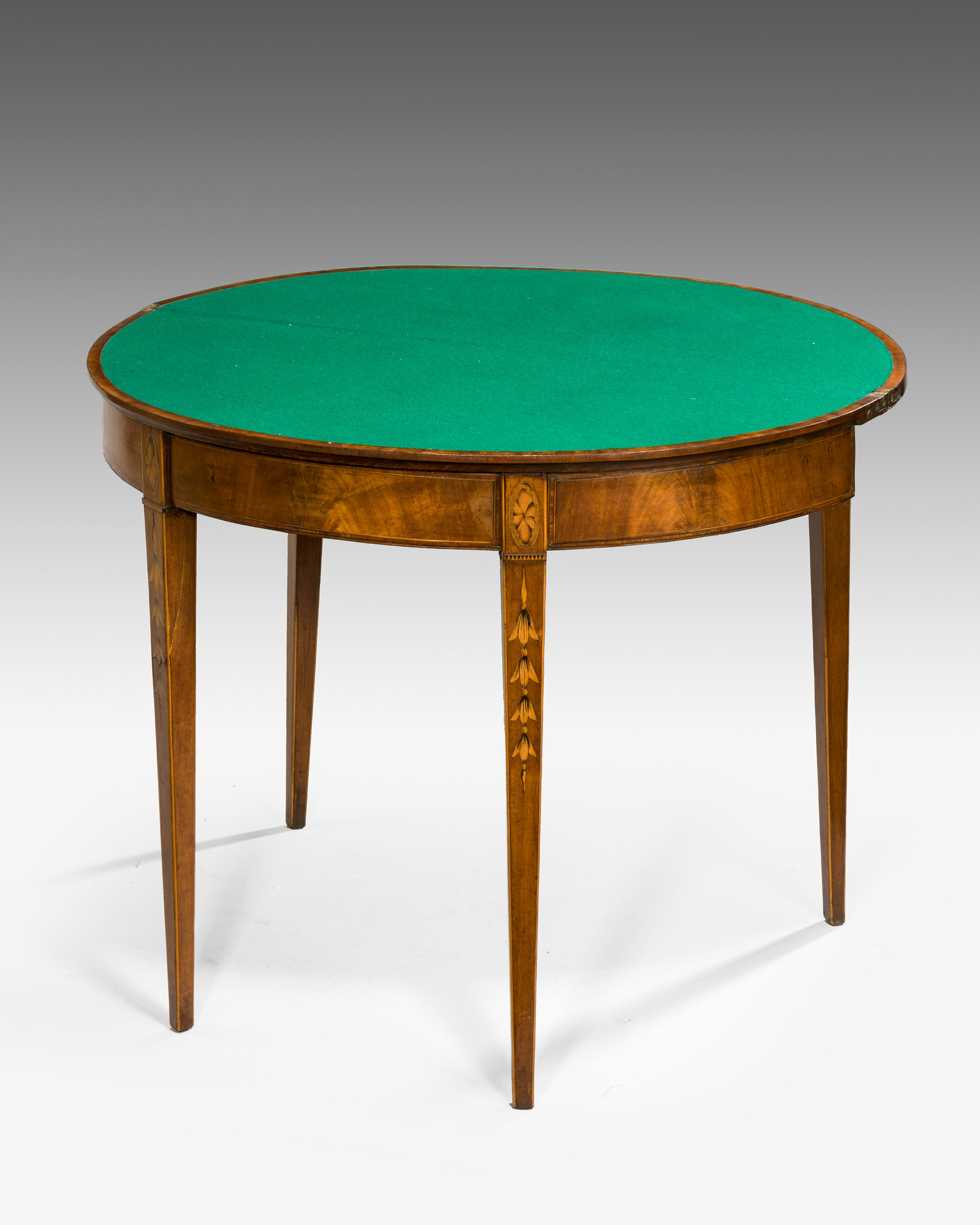 George Iii Demi Lune Card Table Summers Davis Antiques