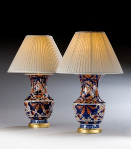 Pair of Imari Vases, now Lamps