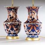 Pair of Imari Vases, now Lamps image 2