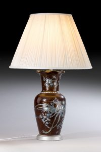 Large Japanese Vase,now Lamp