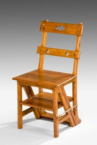Oak Metamorphic Library Step Chair