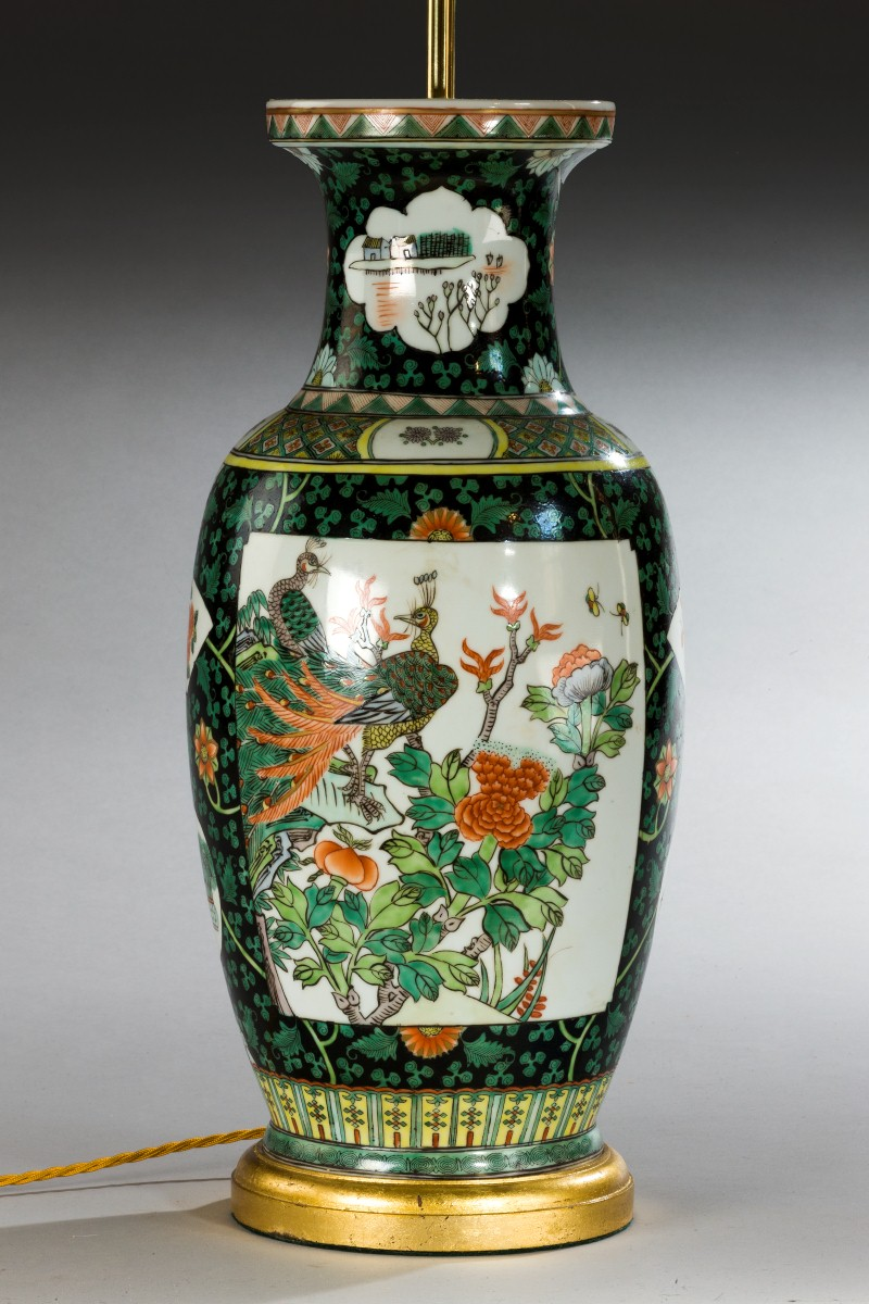 Large chinese vase as lamp summers davis antiques interiors large chinese vase as lamp image 2 reviewsmspy