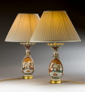 Pair of Japanese Vases, as Lamps