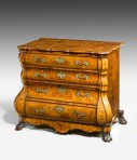 Dutch 18th Century  Bombé  Marquetry Commode ~ SOLD