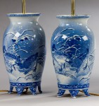 Pair of Blue & White Vases, now Lamps image 2