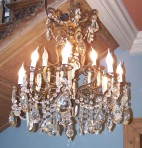 Large French Crystal Chandelier ~ SOLD