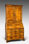 George II Burr Walnut Bureau Bookacse image 1