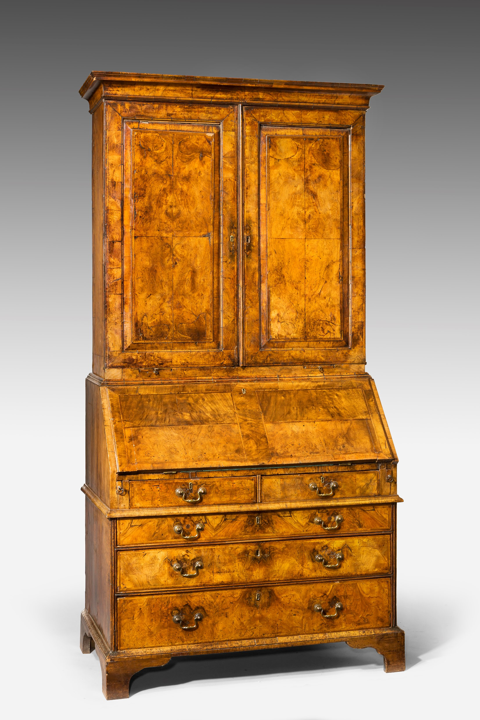 george ii burr walnut bureau bookacse summers davis. Black Bedroom Furniture Sets. Home Design Ideas