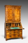 George II Burr Walnut Bureau Bookacse image 2