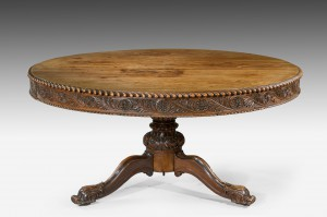 Anglo Indian Padouk Centre/Dining Table