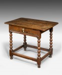 Late 17th Century Oak Side Table image 1