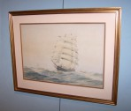 Early 20th Century Watercolour of Cutty Sark