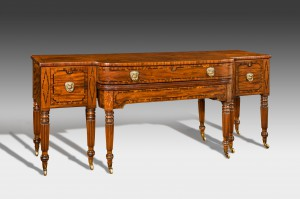 Antique, Rare Regency Sideboard with Extending Dining Table