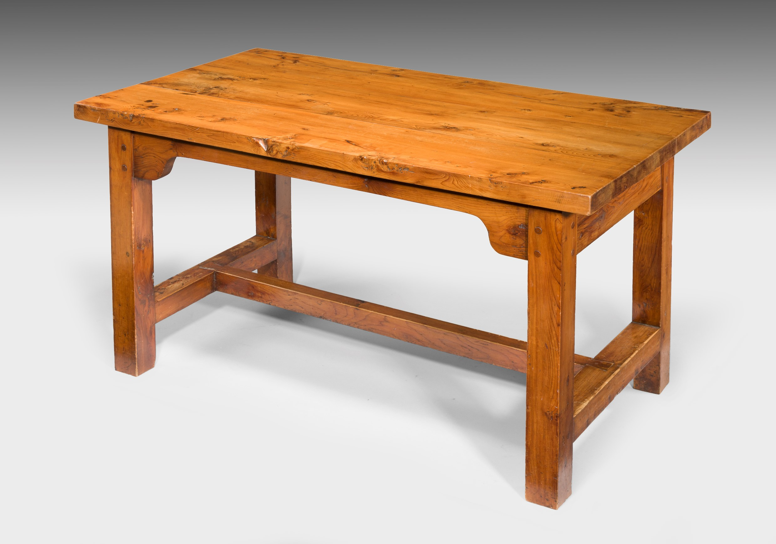 Antique, Solid Yew Kitchen/Dining Table Image 1 ...