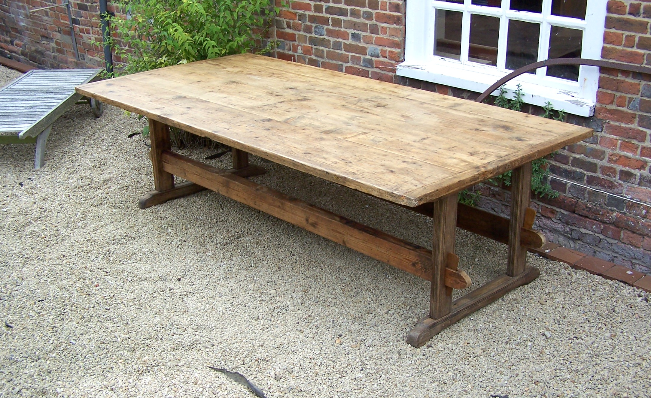 Large Rustic Farm Table
