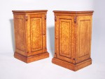 Antique Pair of Birds Eye Maple Bedside Cabinets image 1