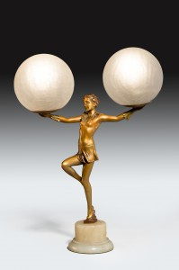 Art Deco Lady Light/Lamp