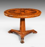 William IV Round Parquetry Table