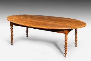 Antique French Oval Farm Table