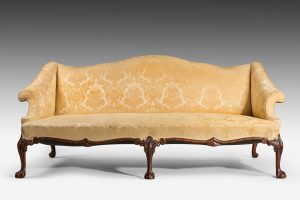 Antique, Chippendale Style Settee