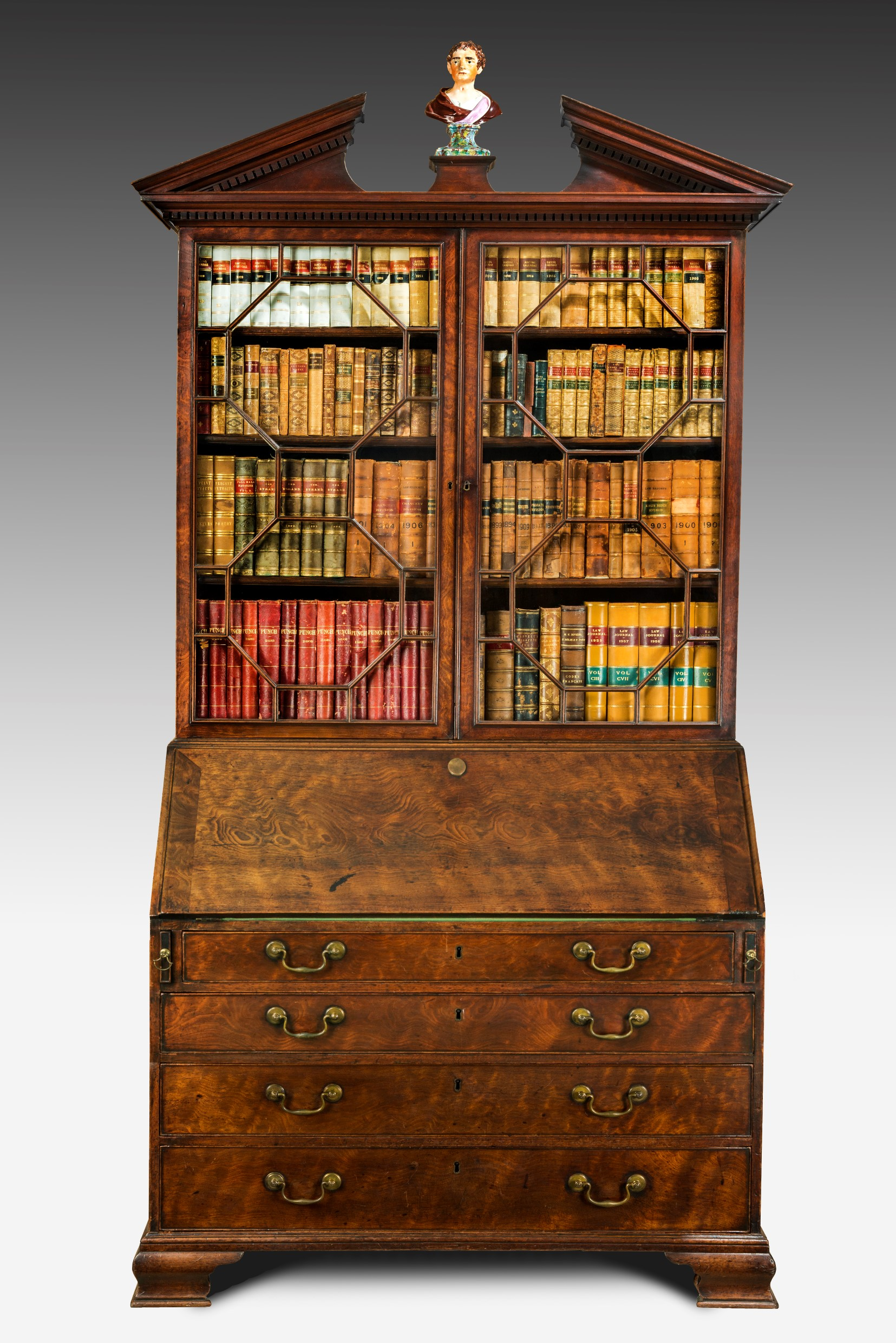 antique walnut bureau bookcase summers davis antiques interiors. Black Bedroom Furniture Sets. Home Design Ideas