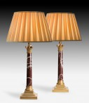 A Pair of Corinthian Column Table Lamps ~ SOLD