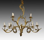 Antique Large Gilt Chandelier ~ SOLD
